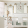 Ithaca 5 in 1 Convertible Crib in White Room Shot