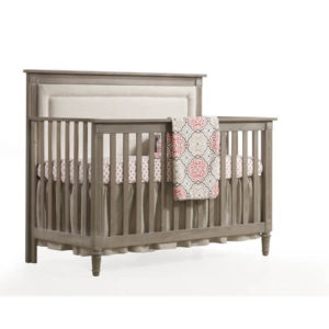 Provence 5 in 1 Convertible Crib with Upholstered Panel