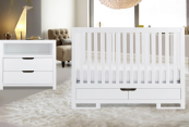 karla dubois oslo crib in pure white