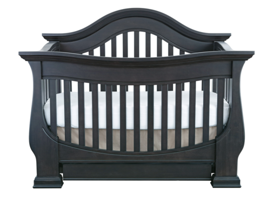 Baby Appleseed Davenport Convertible Crib in Slate