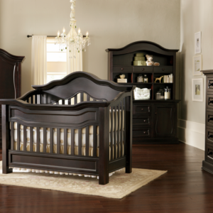 Baby Appleseed Millbury Convertible Crib in Espresso