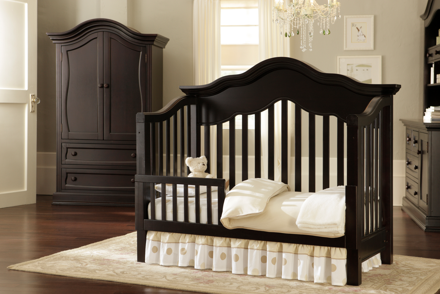 Baby Appleseed Millbury Convertible Crib in Espresso ...