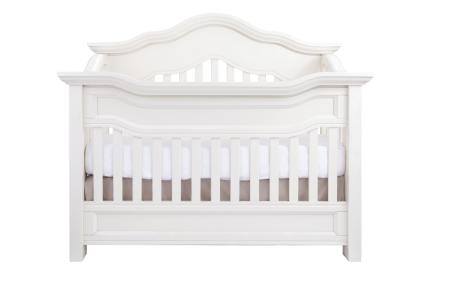 Baby Appleseed Millbury Convertible Crib in Pure White