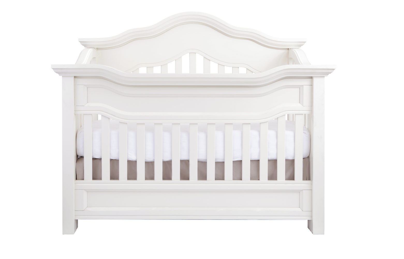 Baby Appleseed Millbury Convertible Crib In Pure White