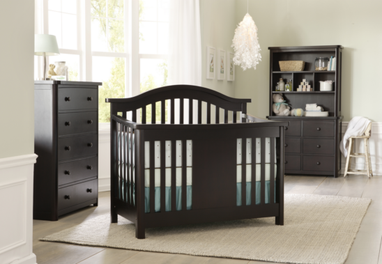 Baby Appleseed Stratford Convertible Crib in Espresso