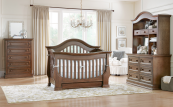 Baby Appleseed Davenport Convertible Crib in Coco