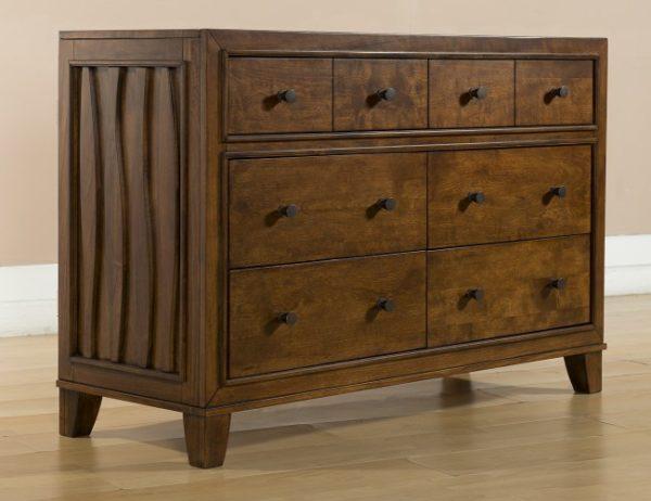 Skyla Double Dresser in Walnut