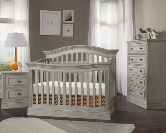 Templeton 4 In 1 Convertible Crib In Rustic Gray Kids