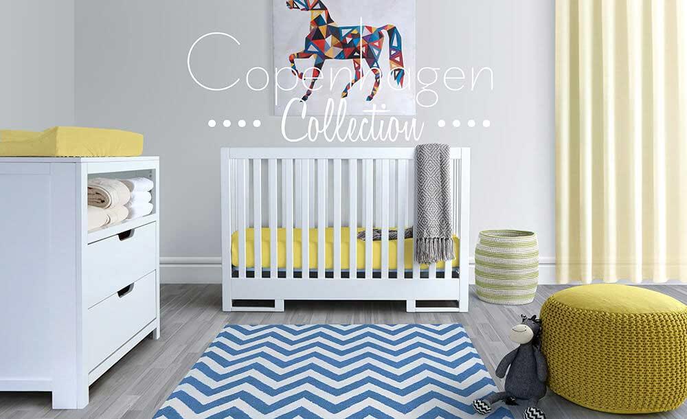 Karla Dubois Copenhagen Modern Crib In White Kids