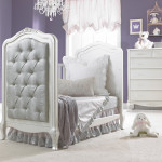 Dolce Babi Angelina Upholstered Daybed Conversion Room Scene Pearl