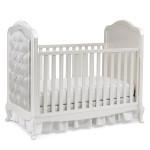 Dolce Babi Angelina Upholstered Traditional Crib Pearl Silo
