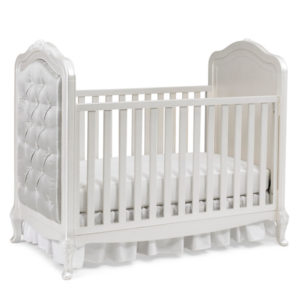 Dolce Babi Angelina Upholstered Traditional Crib Pearl Silo