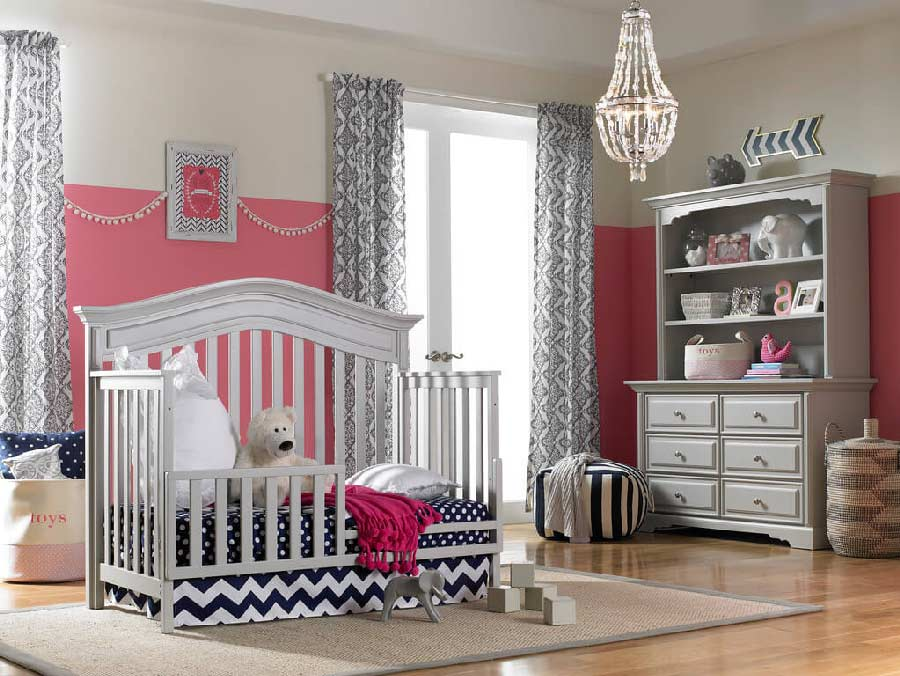 Venice Convertible Crib In Gray Kids Furniture In Los