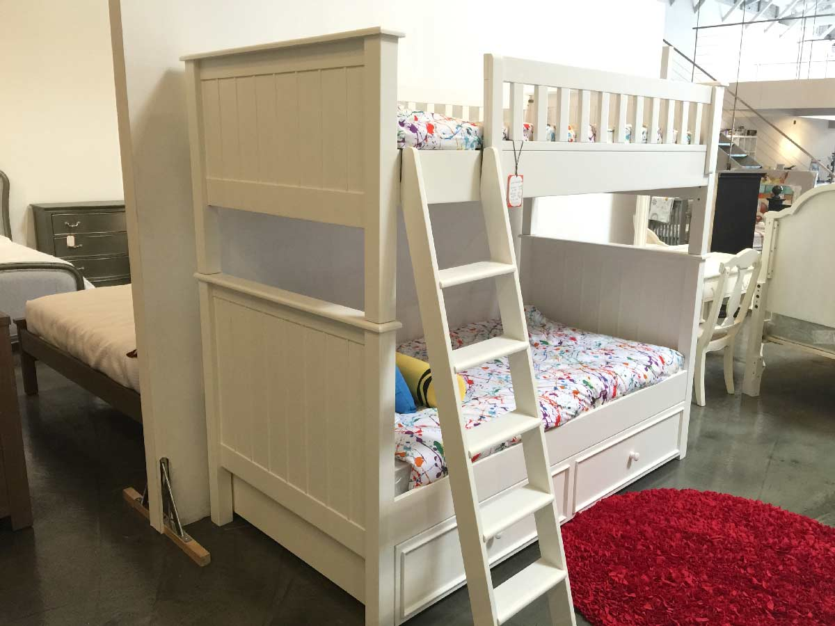 Twin bunk beds white - Campground Collection Twin Over Twin Bunk Bed In White