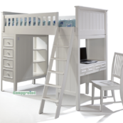 Campground Collection Loft Bed in Winter White