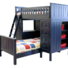 Campground Collection Loft Bed in Navy Blue