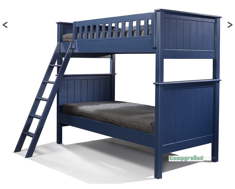 Campground Collection Twin Over Twin Bunk Bed In Navy Blue