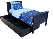 Campground Collection Panel Bed in Navy Blue