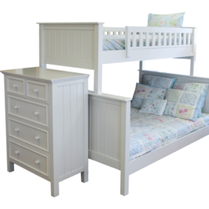 Campground Collection Twin over Full Bunk Bed in Winter White
