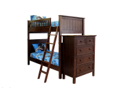 Campground Collection Twin over Twin Bunk Bed in Espresso