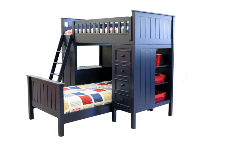 campground collection loft bed in navy blue kids furniture in los angeles. Black Bedroom Furniture Sets. Home Design Ideas