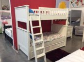 campground twin over twin bunk bed in white
