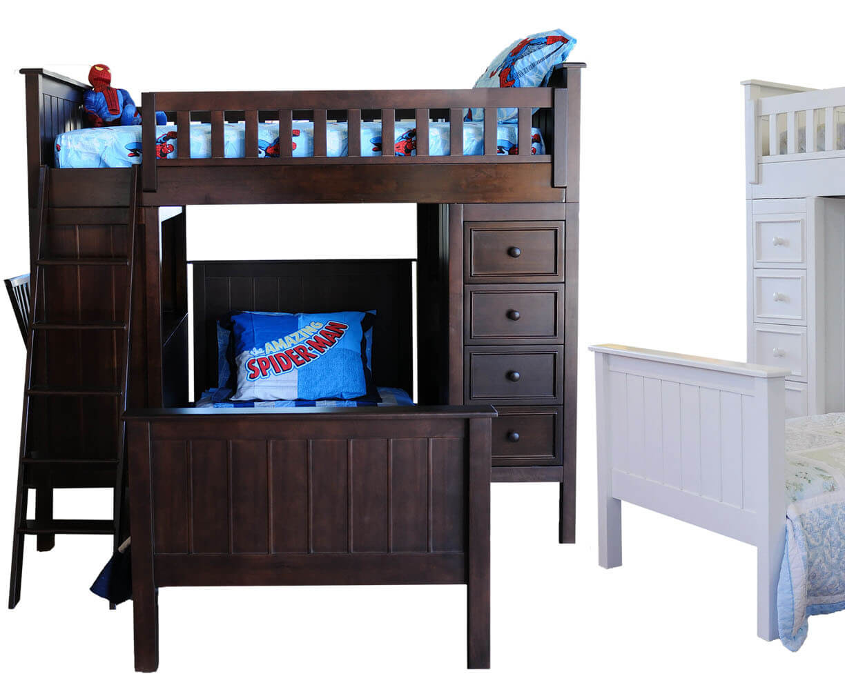Campground Collection Loft Bed in Espresso