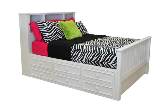 Campground Collection Bookcase Bed with Captain Drawers