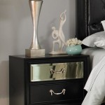 Devine Collection Nightstand in Black