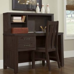 kenwood Collection Desk and Hutch in Espresso