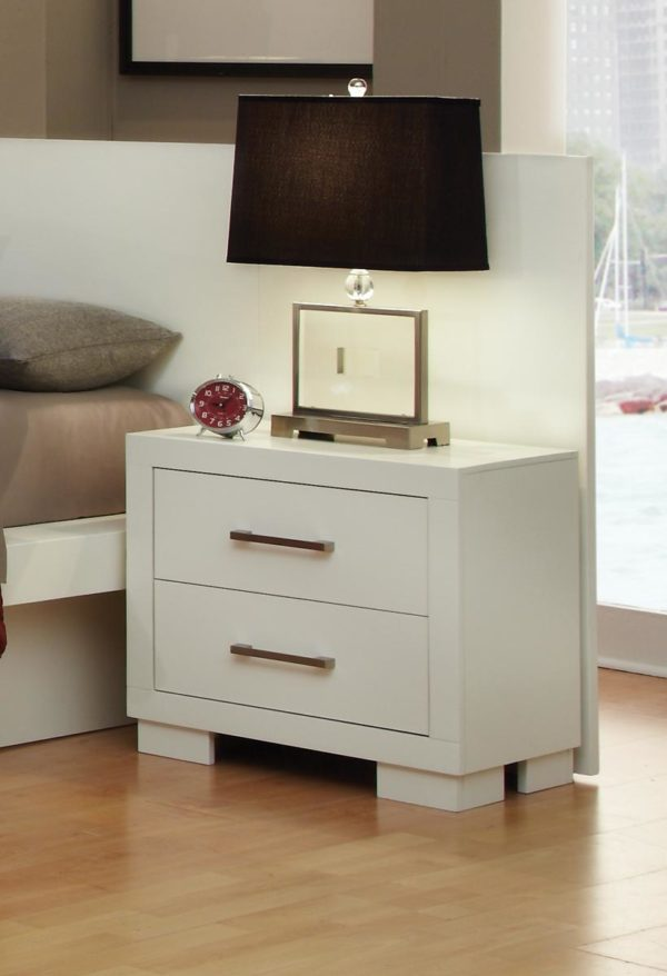 Jessica Collection Nightstand in White