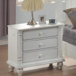 Kayla Collection Nightstand in Distressed White