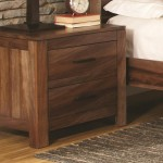 Peyton Collection Nightstand in Natural Brown