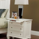 Sandy Beach Nightstand in White