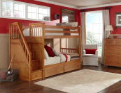 ne kids schoolhouse stair bunk bed