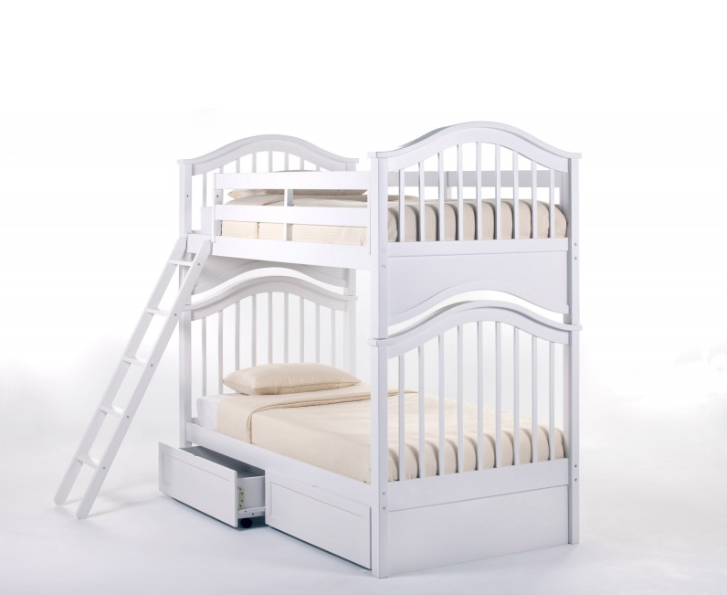 Danley Twin Over Twin Bunk Bed Kids Furniture In Los Angeles
