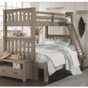 kenwood harper twin over full bunk bed in driftwood