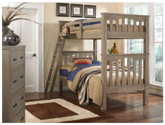 kenwood harper twin over twin bunk bed in driftwood