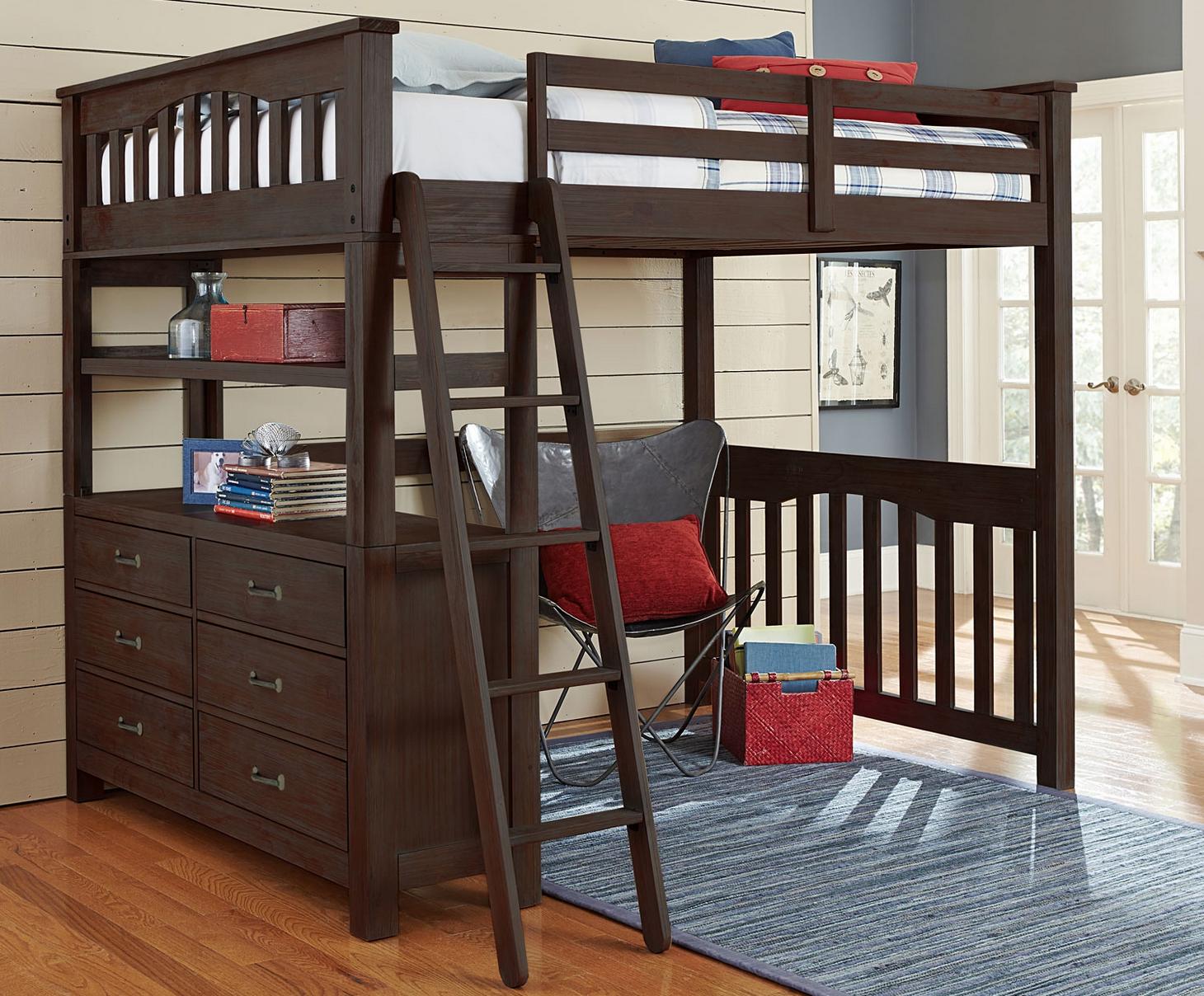 Kenwood Full Size Loft In Espresso Kids Furniture In Los