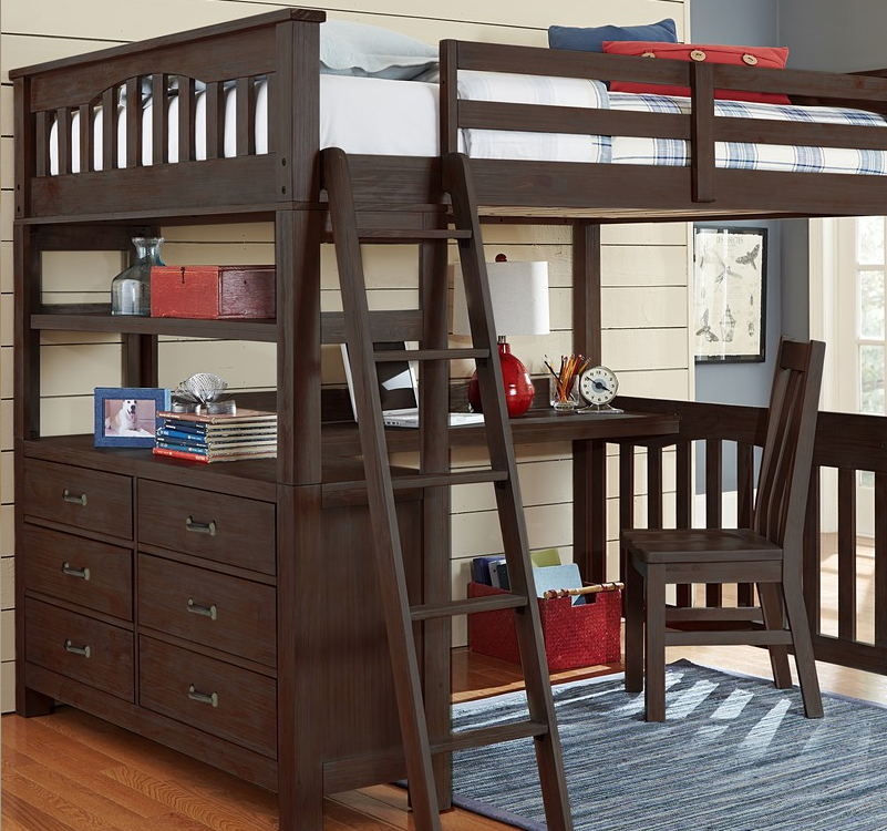 kenwood full size loft in espresso kids furniture in los angeles. Black Bedroom Furniture Sets. Home Design Ideas