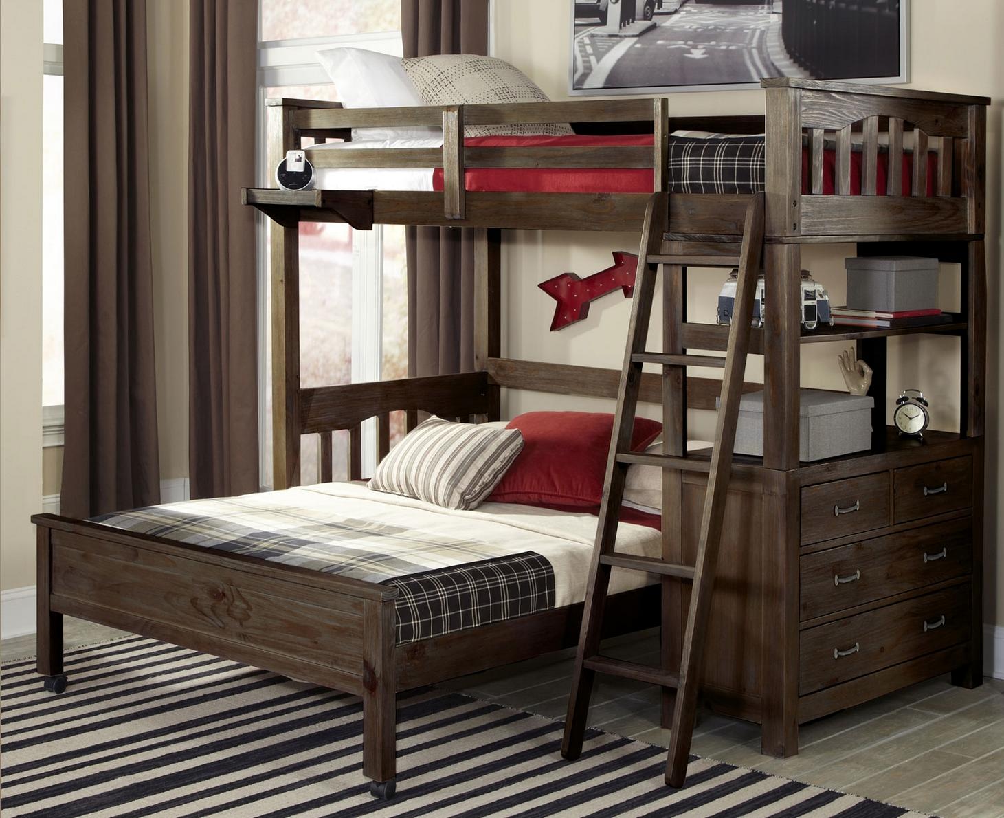 Kenwood Twin Size Loft In Espresso Kids Furniture In Los Angeles