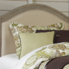 kenwood twin size upholstered bed in driftwood