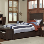 kenwood twin size trundle bed in espresso