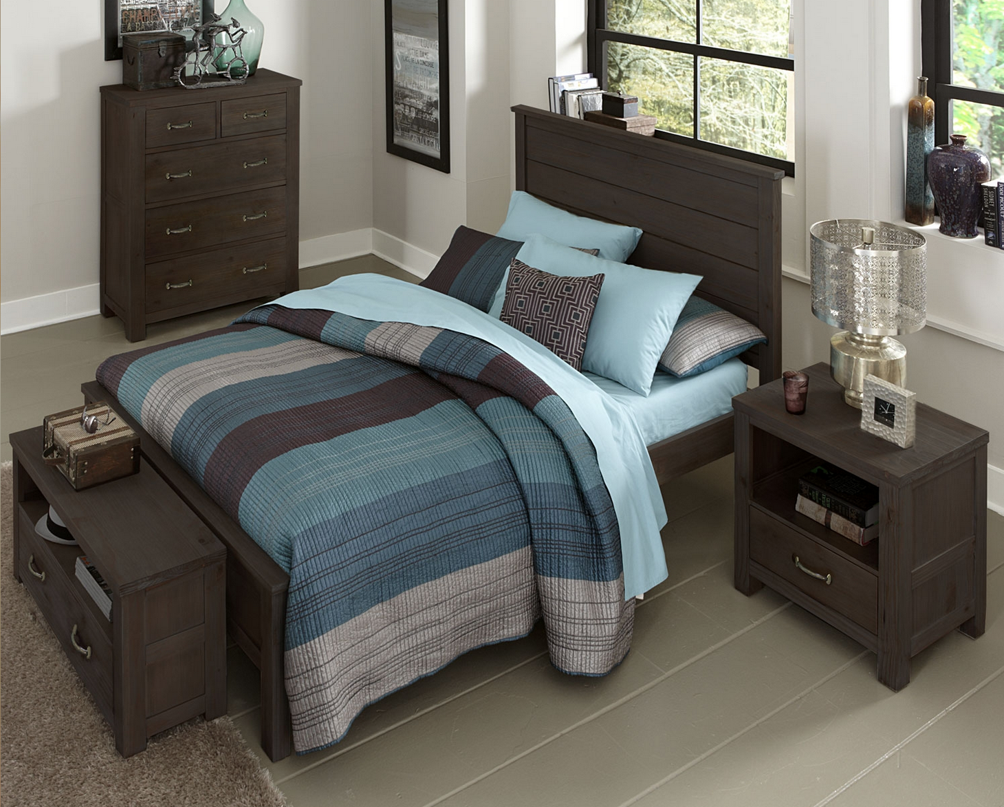 Kenwood Collection Panel Bed In Espresso Kids Furniture