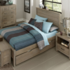 kenwood full size trundle bed in driftwood