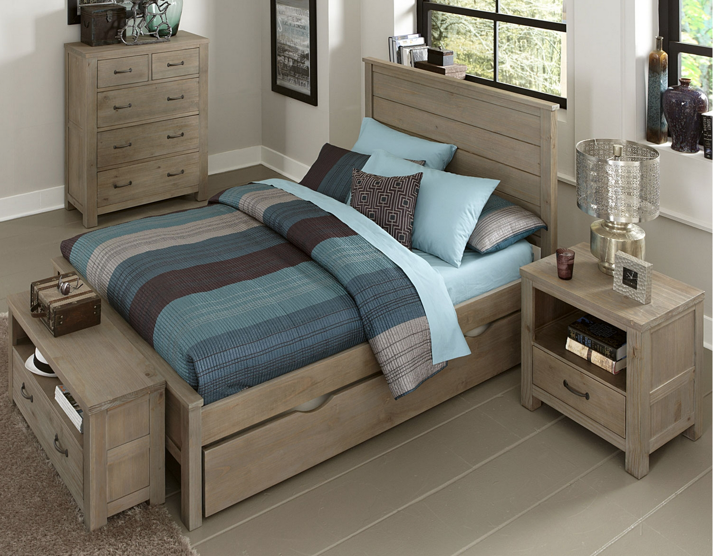 Kenwood Collection Panel Bed In Driftwood Kids Furniture In Los Angeles