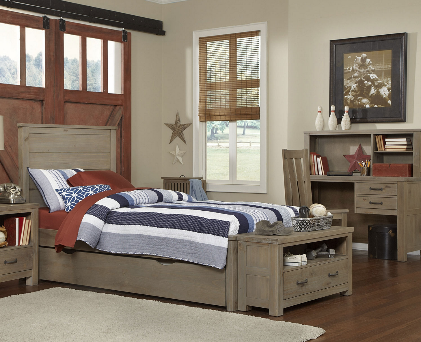 kenwood Collection Panel Bed in Driftwood - Kids Furniture In Los ...