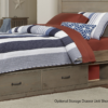 kenwood twin size panel bed in driftwood