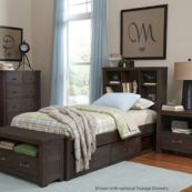 kenwood bookcase bed in espresso