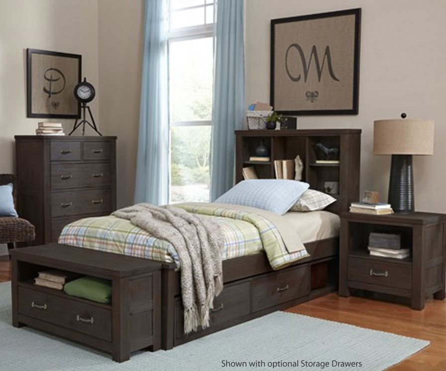 Kenwood Bookcase Bed In Espresso Kids Furniture In Los Angeles